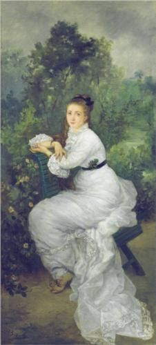 Louise Quivoron aka Woman in the garden - Marie Bracquemond