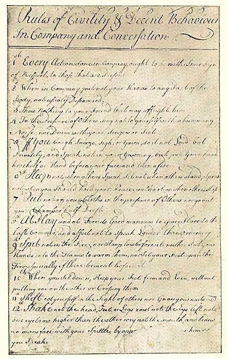 George Washingtons Rules of Civility