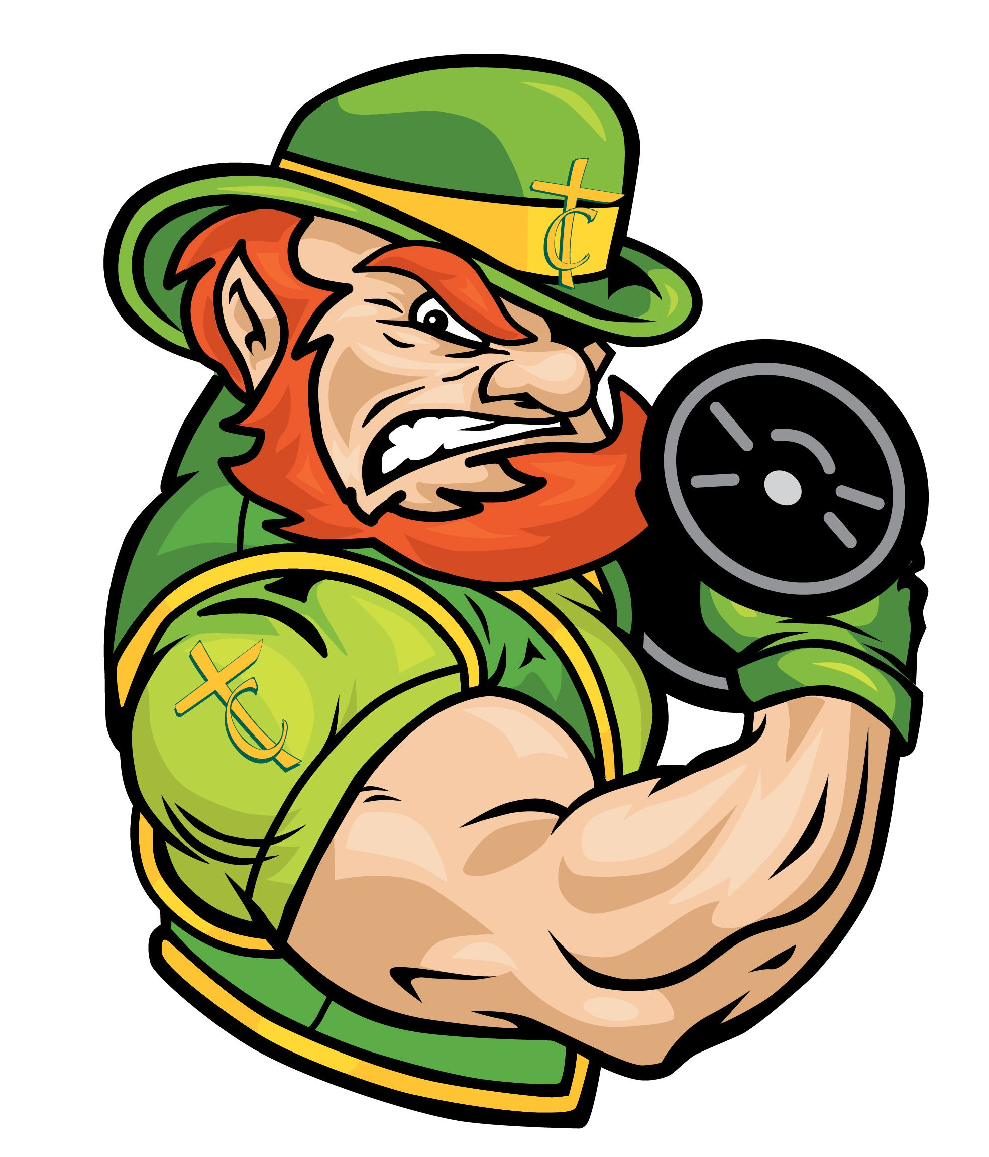 tchs leprechaun weight lifting logo 3m certified vehicle wraps rh pinterest com