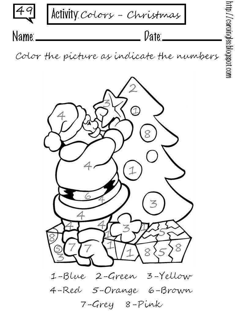 Único Páginas En Color De Navidad Embellecimiento - Dibujos Para ...