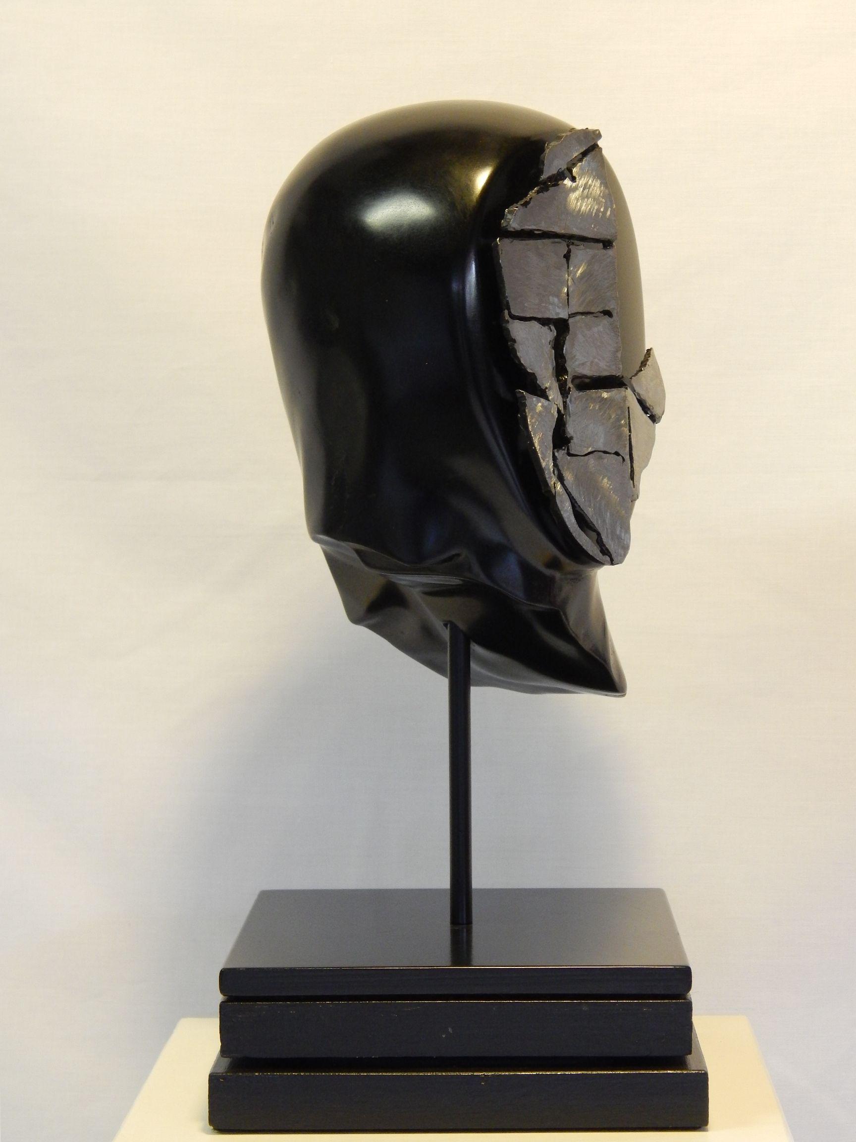 Warrior Soapstone Steel Stone Sculpture Original Art