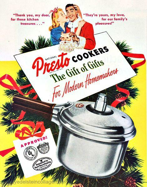 Vintage Christmas Ad Presto 1947