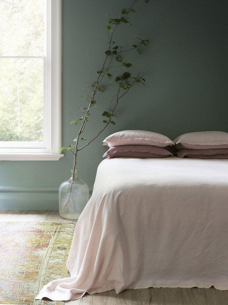 Idées déco pour une chambre vert sauge