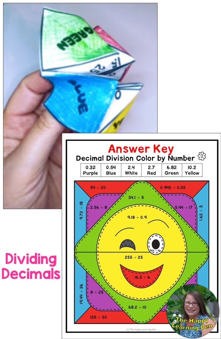 Photo of Decimal Division Activities