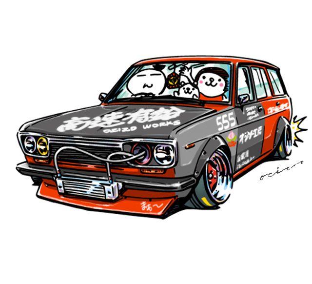 """crazy car art"" jdm japanese old school ""510"" original characters ""mame mame rock"" / © ozizo Official web shop ""STAY CRAZY (in Society6)"" Official web shop ""ozizo(in Redbubble)"" ""Crazy Car Art"" Line stickers ""Crazy car Art"" Telegram stickers"