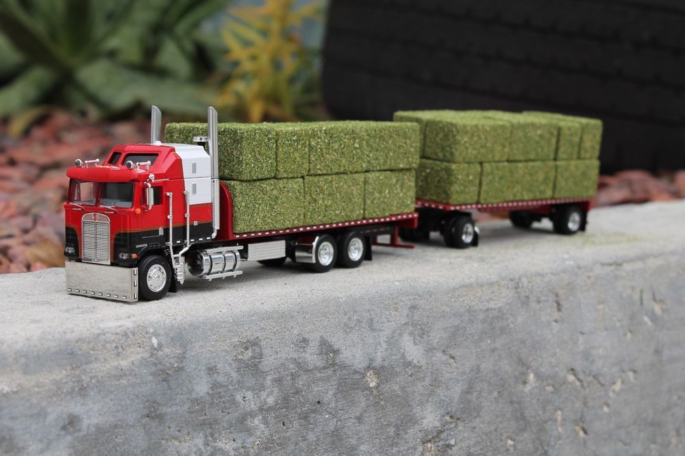 Custom Toy Semi Trucks : Dcp quot custom kenworth coe california style tandem hay