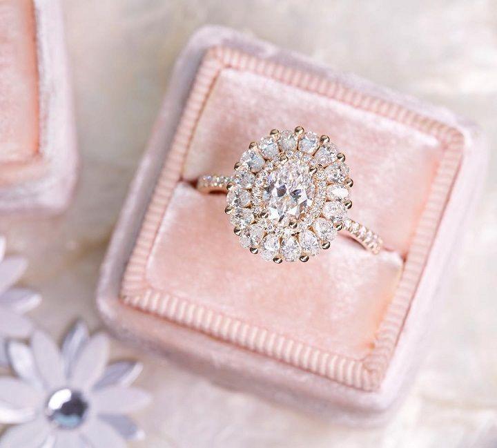Oval Diamond engagement ring - Vintage inspired wedding #engagementring #diamond #diamondengagementring #engaged #bridetobe #wedding