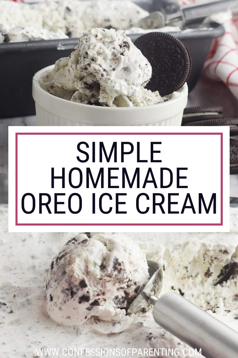 The Best Homemade Oreo Ice Cream Confessions Of Parenting Recipe In 2020 Oreo Ice Cream Homade Ice Cream Recipes Ice Cream Recipes Machine