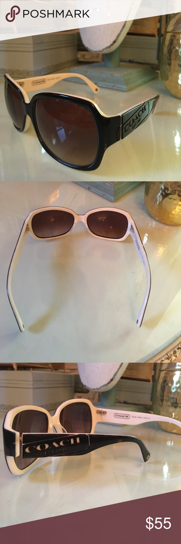 82487e859c32 ... shopping gently used in great condition no scratches. the sides of the  glasses read coach ...