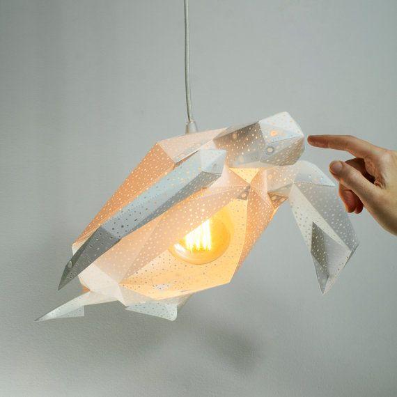 Sea turtle nursery lampshade design hanging lamp origami lamp bedside lamps minimalist lighting ceiling light geometric lamp shade