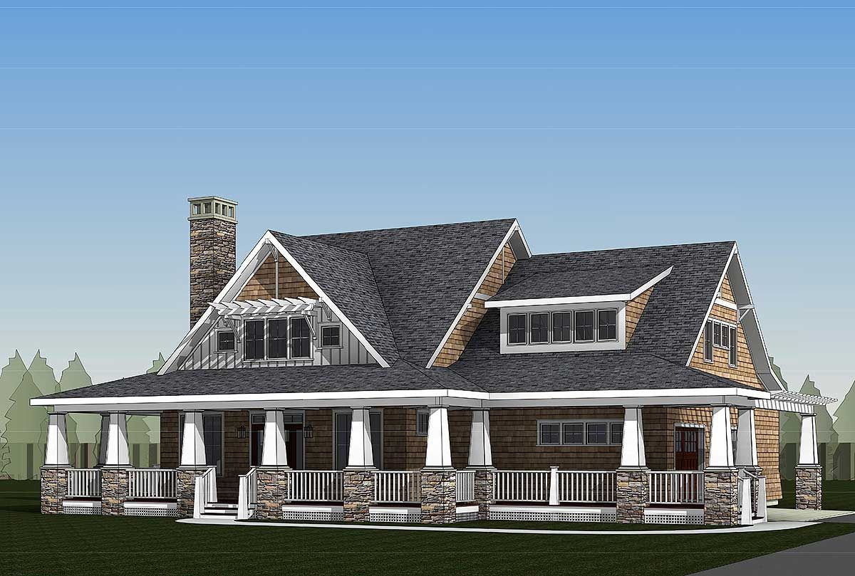 Plan 18289be storybook country house plan with sturdy porch bonus rooms country houses and for Storybook craftsman house plans