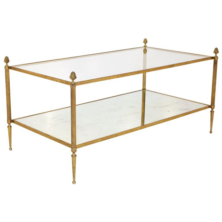 Brass And Glass Coffee Table By Maison Bagues