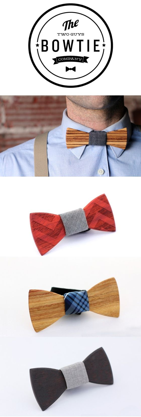 Two Guys Bow Ties. Really cool and I don't have to figure ...