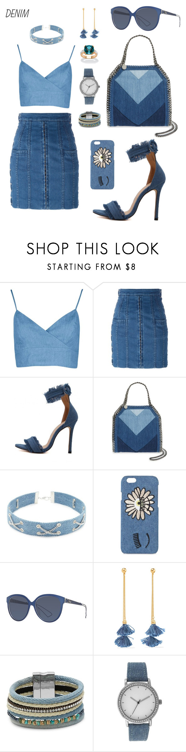 """""""53"""" by jokedin ❤ liked on Polyvore featuring Balmain, STELLA McCARTNEY, Forever 21, Chiara Ferragni, Christian Dior, Ben-Amun, Cara, A Classic Time Watch Co. and Palm Beach Jewelry"""