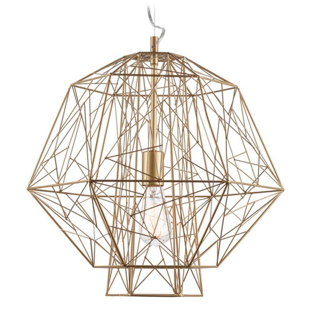 Nuevo Lighting Zeus Gold Cage Pendant Light  Pendants Lighting