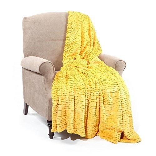 Mustard Yellow Throw Blanket Extraordinary Ruffled Mustard Yellow Faux Fur Throw Air Brushed Curry Rippled Decorating Design