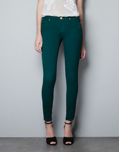 Poches Pantalons Zara Cinq Basic Pantalon Satin Femme France TUz6wwq