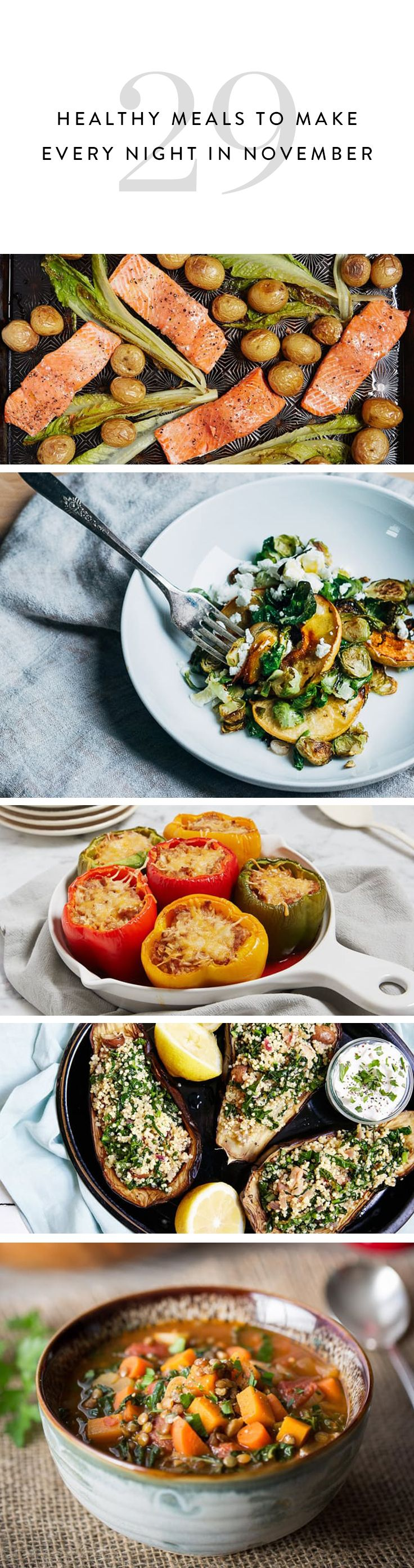 29 Healthy Meals to Make Every Night in November (Except Thanksgiving)