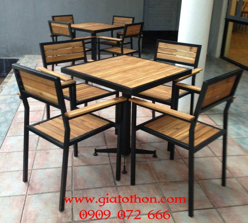 BÀN GHẾ CAFE KHUNG THÉP, BÀN GHẾ CAFE, BÀN GHẾ GỖ CAFE, BỘ BÀN GHẾ CAFE, BỘ BÀN GHẾ GỖ CAFE is part of Metal furniture -