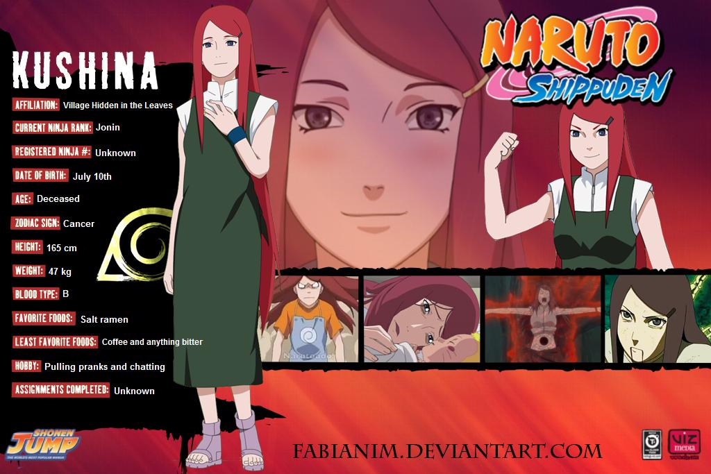 Kushina Profile, Stats, Info Naruto character info