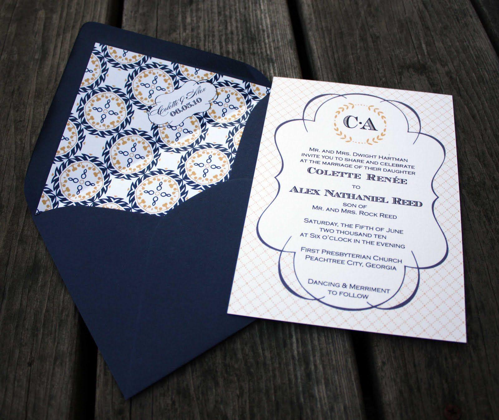 Madeline Wedding Invitations by Fourth & Folded   Rehearsal dinner ...