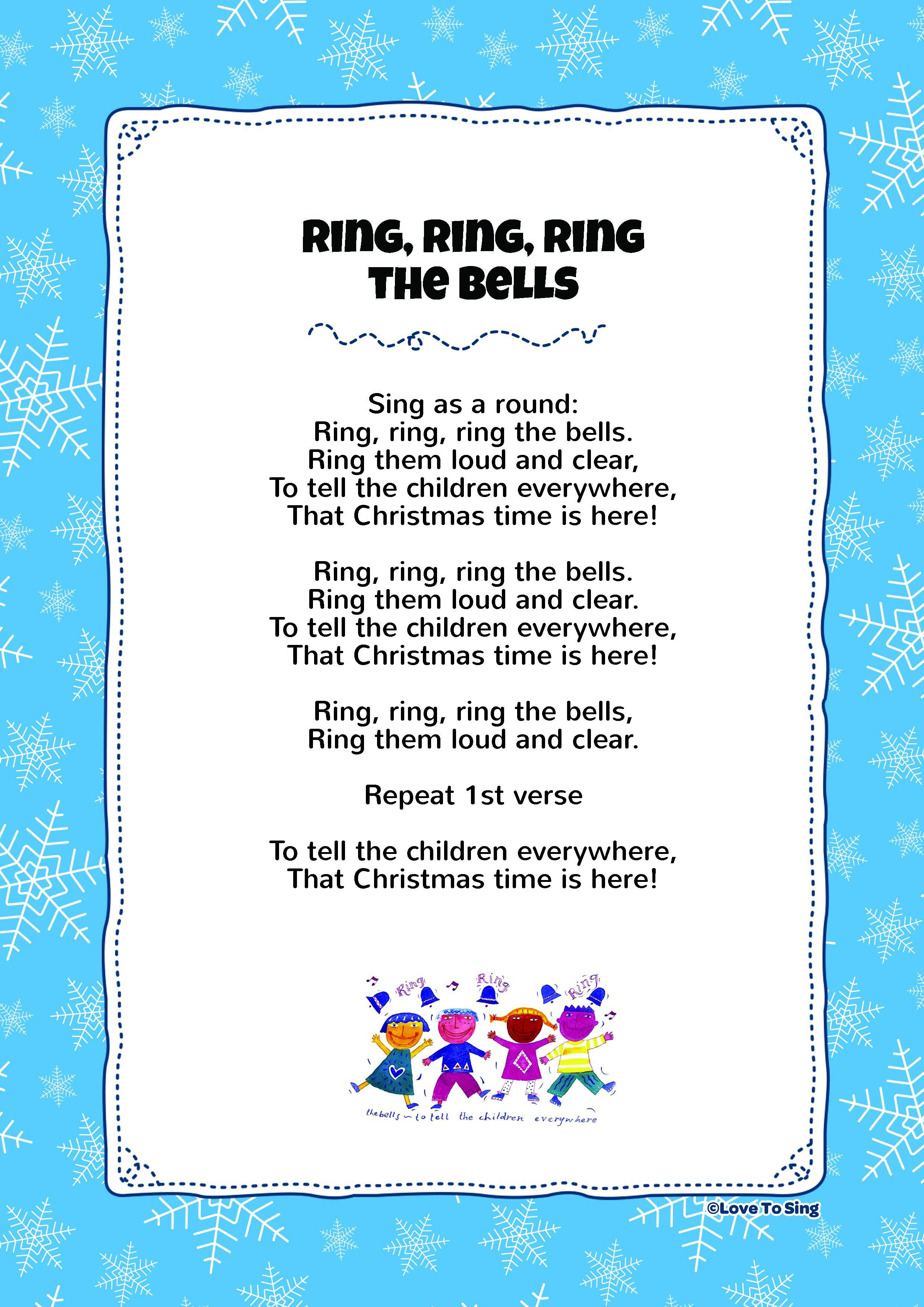 """Free Lyric Download """"Ring Ring Ring The Bells"""" Have a very Merry Christmas! 