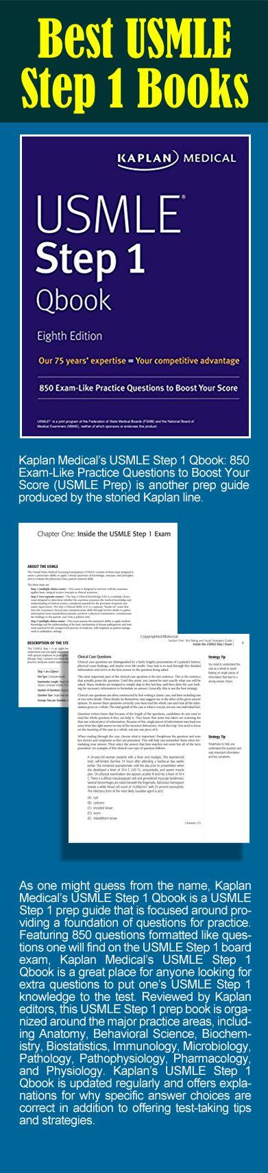 Kaplan Medical's USMLE Step 1 Qbook: 850 Exam-Like Practice