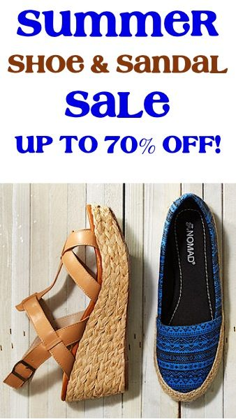 Zulily Summer Shoe and Sandal Sale ~ up