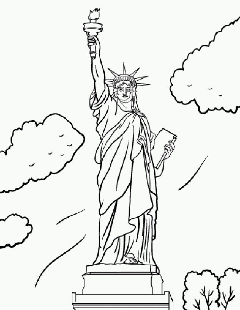 Statue Of Liberty Coloring Pages Within Page Coloring Pages Fashion Coloring Book Coloring Books