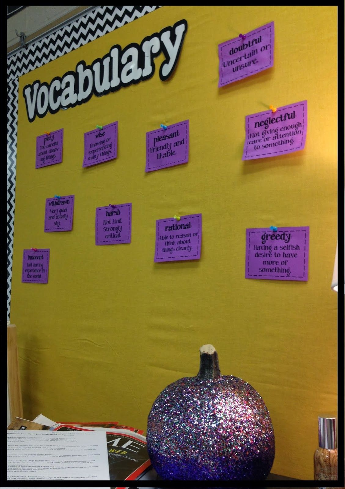 vocab+wall.JPG 1,129×1,600 pixels | Classroom Decor & Organization ...
