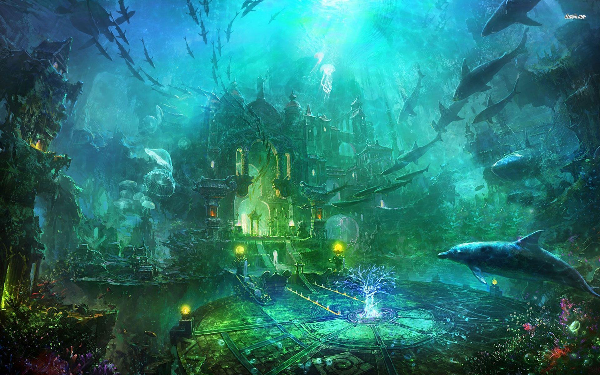 Underwater castle | Fantasy Art: Land/Cityscapes ...