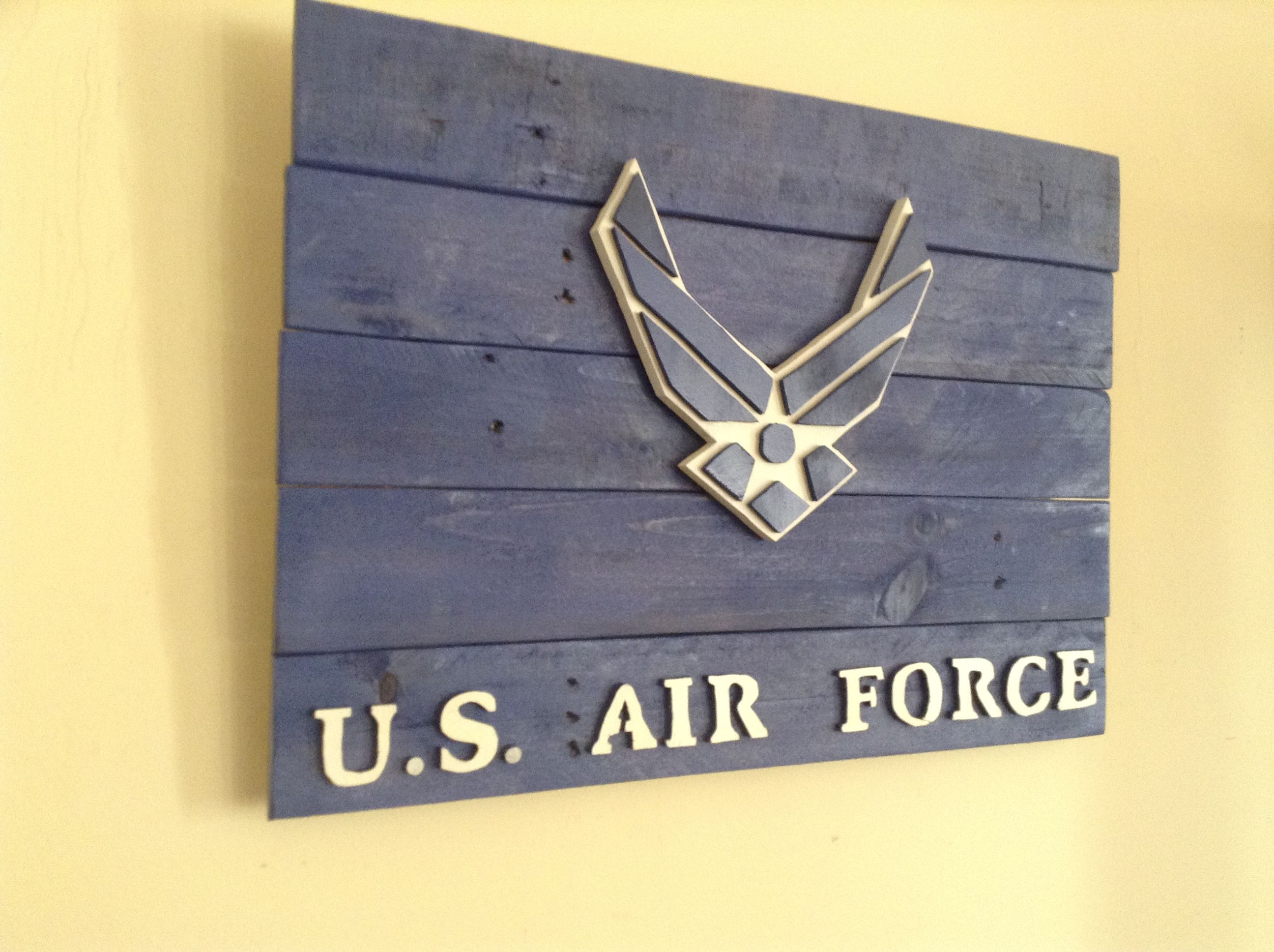 Usaf Wall Decor : Us air force wall art on pallet wood backing wide dale and dana designs