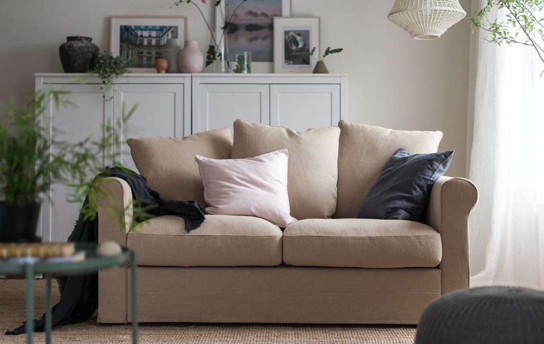 The GRÖNLID sofa in a living room in neutral colours ...