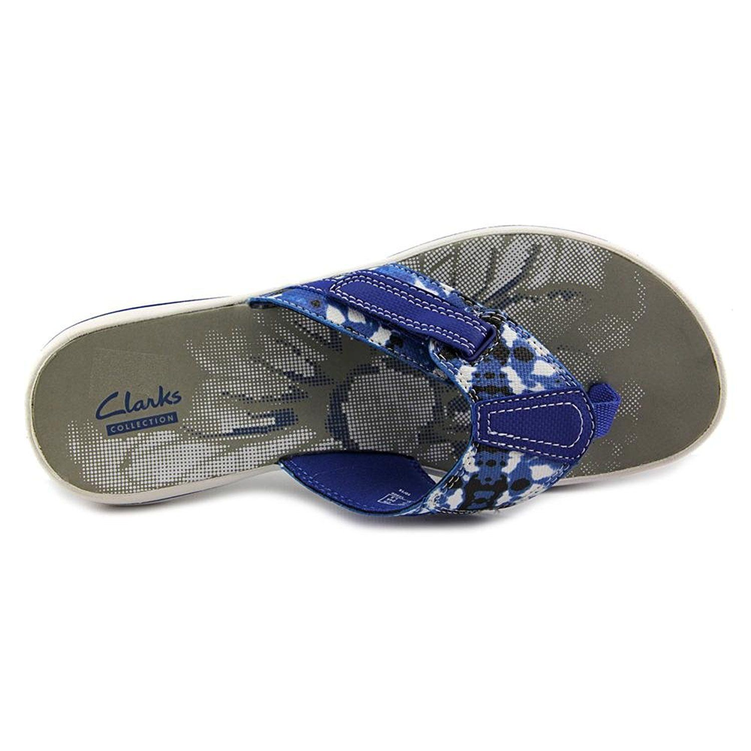 96a518c8064 Clarks Narrative Brinkley Jazz Women US 7 Blue Flip Flop Sandal -- To view  further for this item