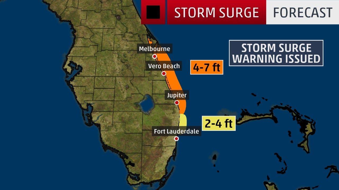 Hurricane Dorian Still Pummeling Northwestern Bahamas As Outer Rainbands Reach Florida Coast The Weather Channel Storm Surge Florida East Coast National Hurricane Center