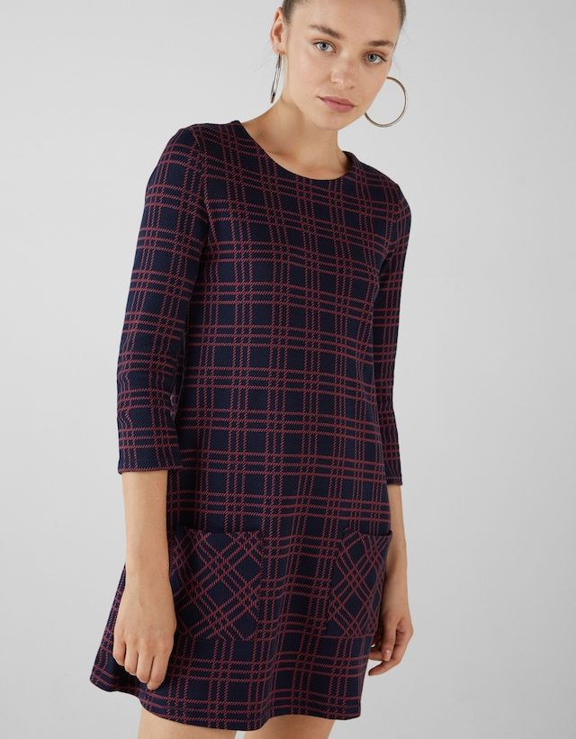 2e30d532a72 Morgan - Robe évasée tricolore col chemise zippé