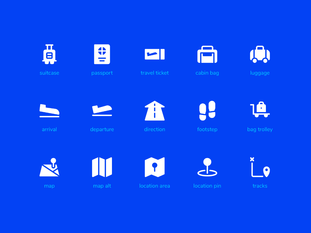 Travel Icon Set From Icontellyou With Solid Style Travel Icon Icon Set Icon