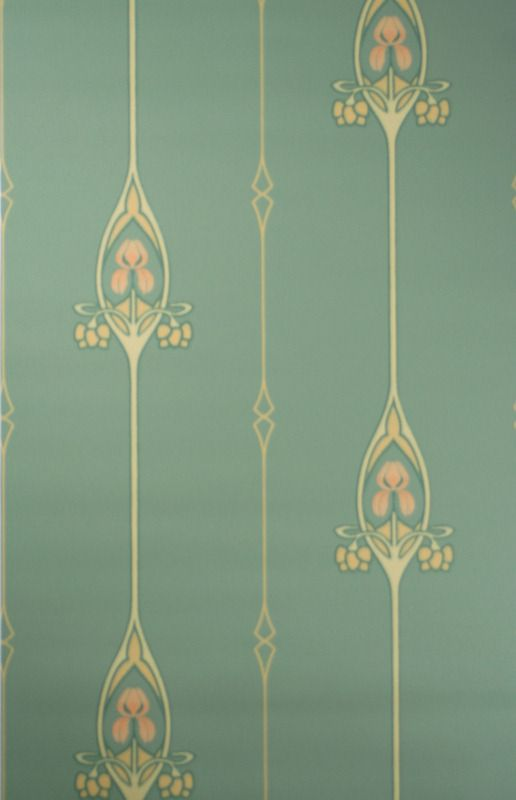 Jugendstil Tapete u2014 Art Nouveau wallpaper pattern Wallpaper - tapeten für küche