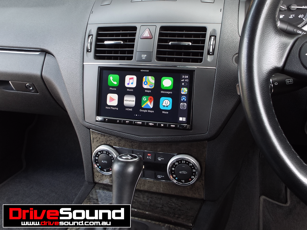 Mercedes W204 CClass with Apple CarPlay installed by