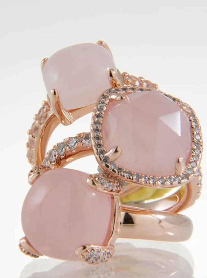 Fashion Heights Pink Rose Quartz Sterling Silver Overlay Earring 1.5 Handmade Jewelry
