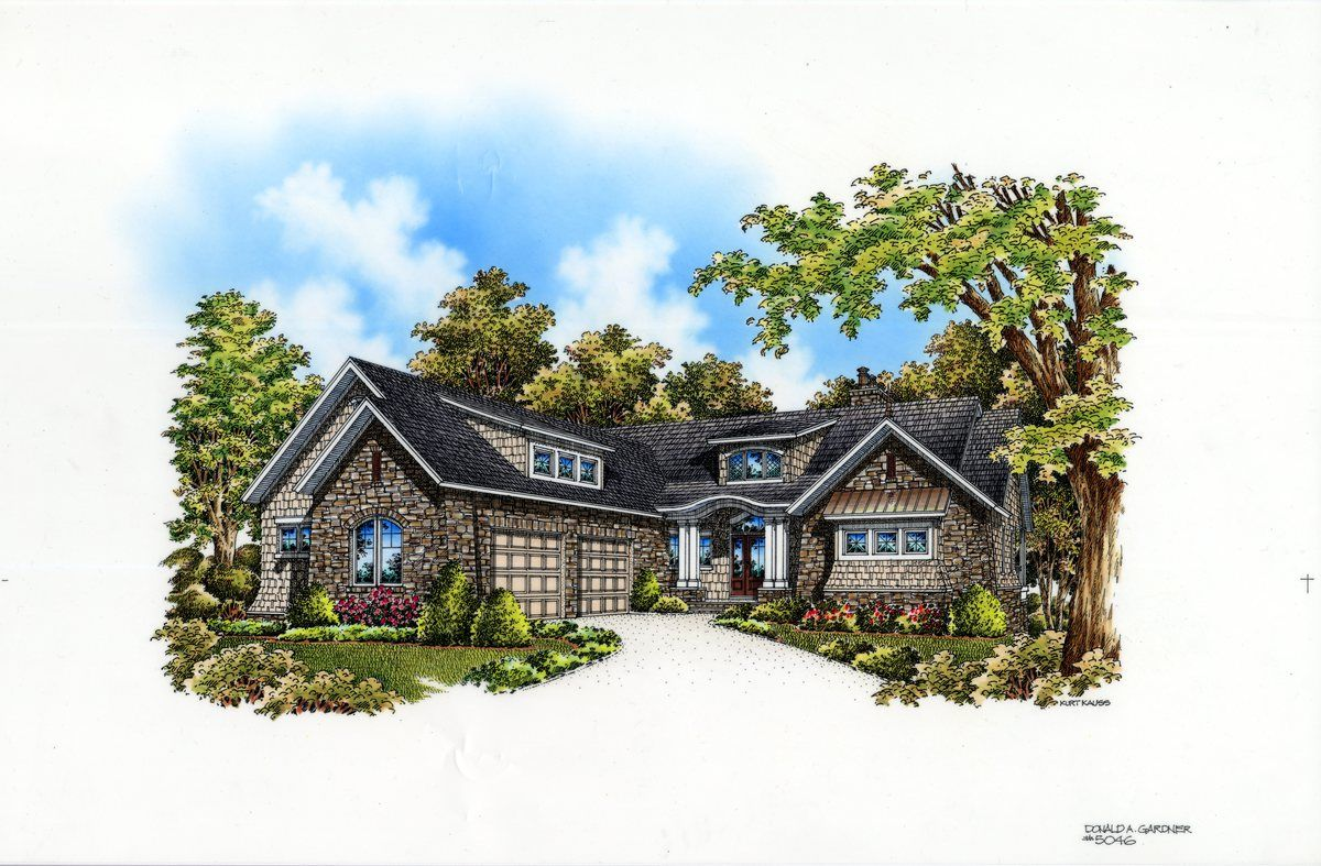 NOW AVAILABLE: Hillside Walkout Plan #1340-D (With images ...