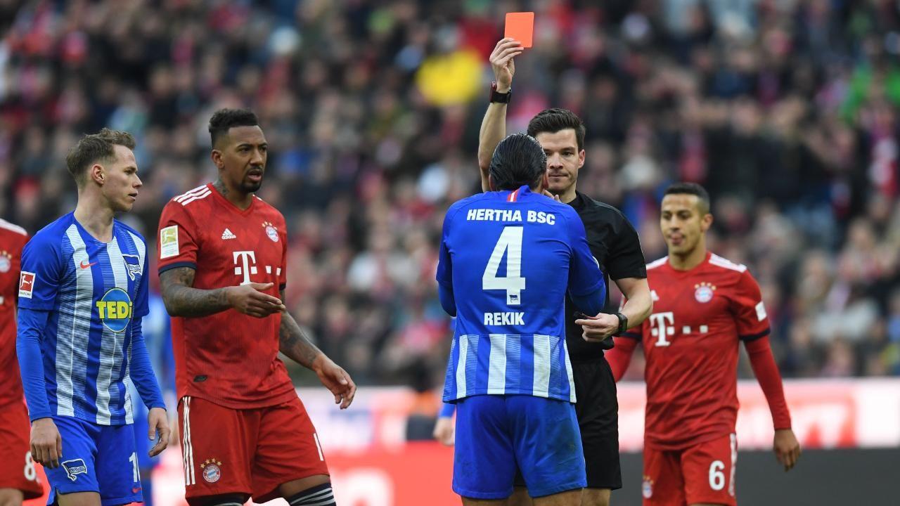 Hertha Bsc Karim Rekik Fur Ein Spiel Gesperrt Hertha Bsc Hertha Bayern Hertha