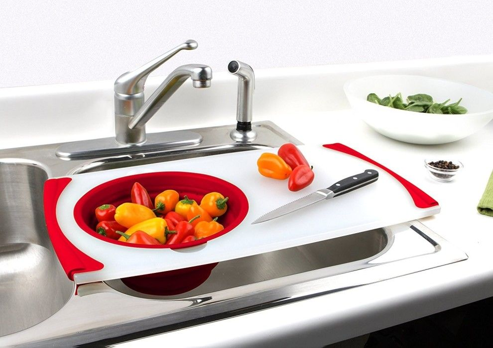 23 Tips For Cooking In A Tiny Kitchen Sink Sink Strainer