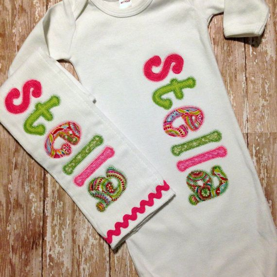 Coming Home Outfit Baby Girl Burp Rag by sunfirecreative on Etsy ...