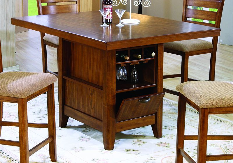 Kitchen Island With Rectangular Table Top And Storage Kitchen Table With Storage Bar Height Kitchen Table Counter Height Kitchen Table