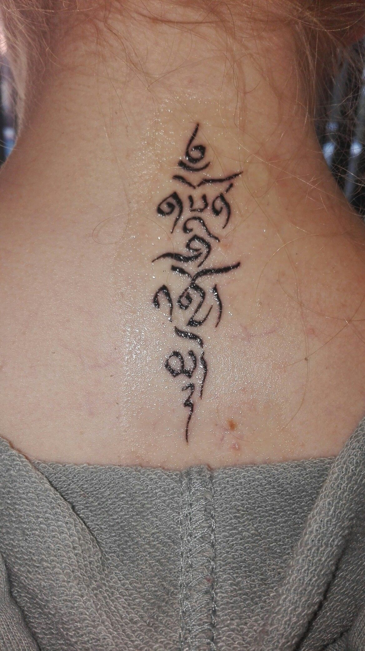 Tibetan script to live and die without regret | Tibetan ...