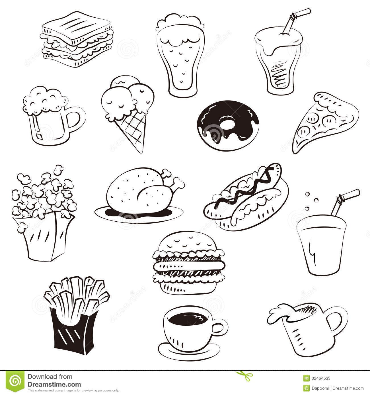 49+ Cute fast food coloring pages information