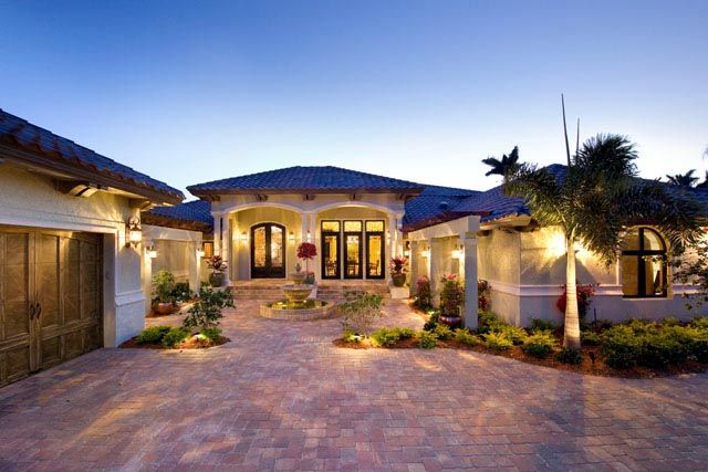 Coastal contemporary florida mediterranean house plan Luxury mediterranean house plans