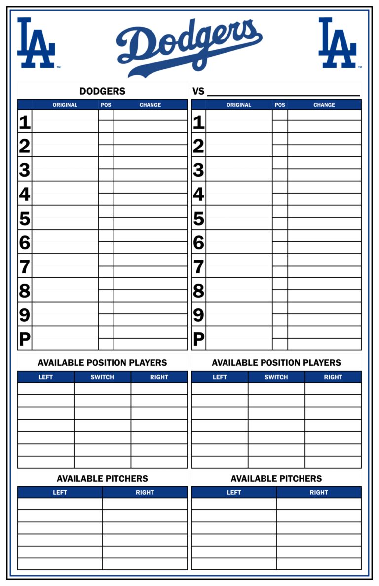 Baseball Lineup Template Free Fielding Card Pdf Printable Pertaining To Dugout Lineup Card Template Business Plan Template Baseball Lineup Business Template