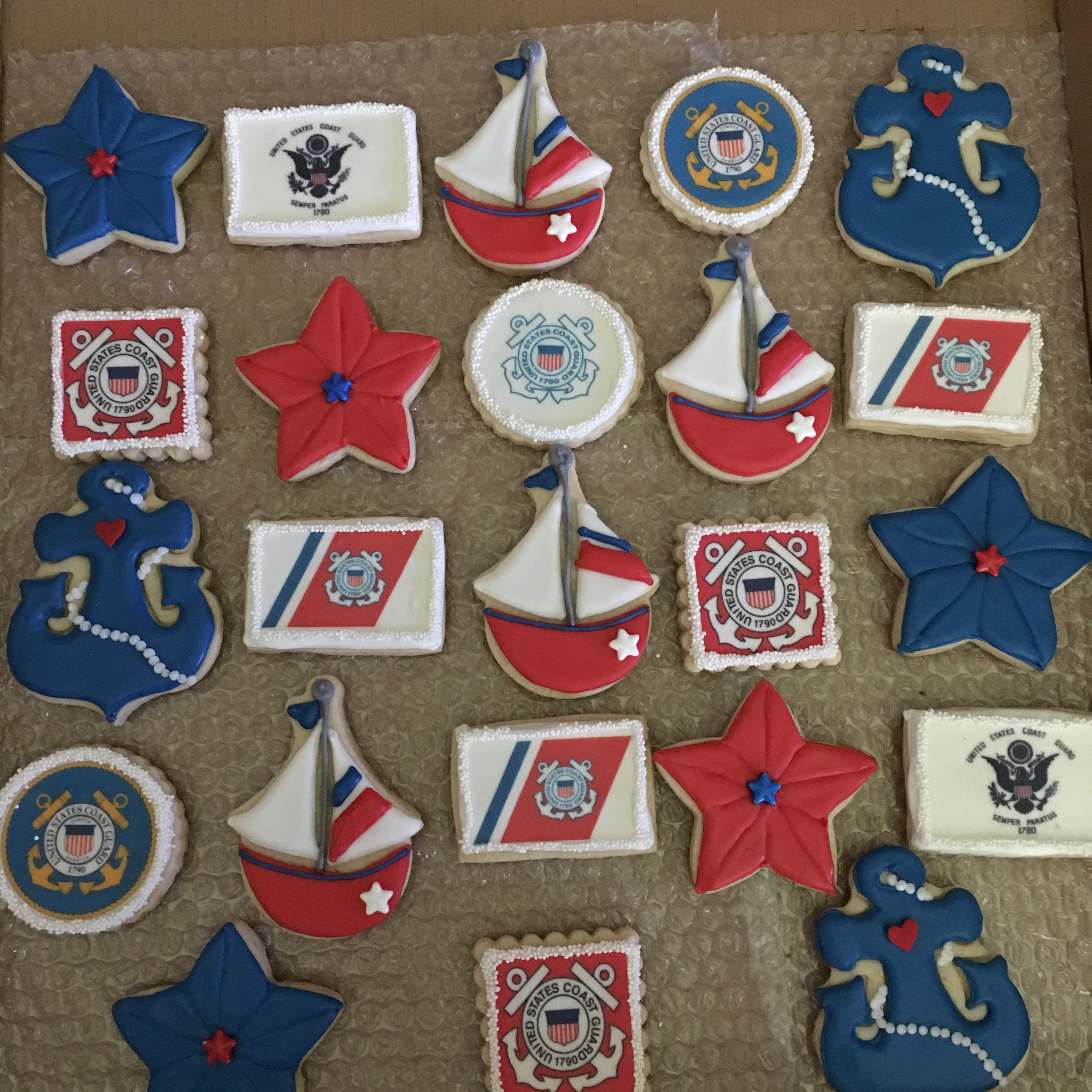 Coast Guard Sugar Cookies Promotion Party Graduation Cookies